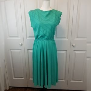 Melissa Lane 70s Boatbeck Fit n Flare Dress